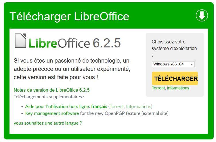 LIBREOFFICE 5.0 GRATUITEMENT TÉLÉCHARGER